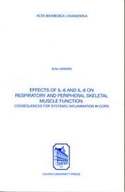 Effects of Il-6 & Il-8 on Respiratory & Peripheral Skeletal Muscle Function PDF