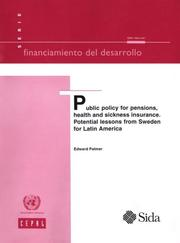Public Policy for Pensions, Health and Sickness Insurance PDF