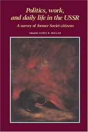 Politics, Work, and Daily Life in the USSR PDF