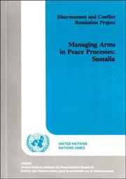 Managing arms in peace processes by Clement Adibe