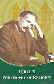 Iqbal's philosophy of religion by Mohammed Maruf