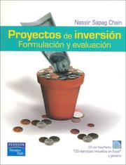 Cover of: Proyectos de Inversion - Formulacion y Evaluacion - Con 1 CD by Nassir Sapag Chain