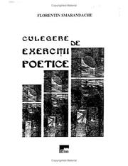 Cover of: Culegere de exercitii poetice by Florentin Smarandache