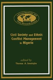 Civil Society and Ethnic Conflict Management in Nigeria PDF
