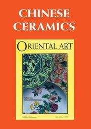 Chinese Ceramics (Oriental Art Collected Articles series) PDF