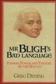 Mr Bligh's Bad Language by Greg Dening