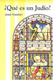 Cover of: Que Es Un Judio? by Jose Kastein