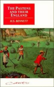 The Pastons and their England by H. S. Bennett