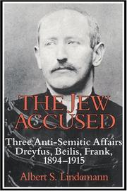The Jew Accused by Albert S. Lindemann
