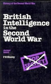 British intelligence in the Second World War PDF