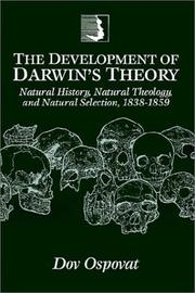 The development of Darwin's theory by Dov Ospovat