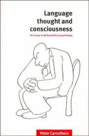 Language, thought, and consciousness
