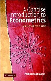 A concise introduction to econometrics by Philip Hans Franses