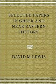 Selected papers in Greek and Near Eastern History PDF