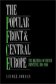 The popular front and Central Europe by Nicole Jordan