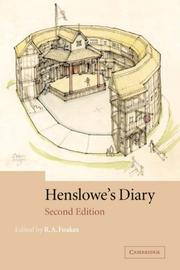 Diary by Philip Henslowe