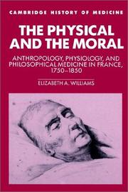 The physical and the moral by Elizabeth A. Williams