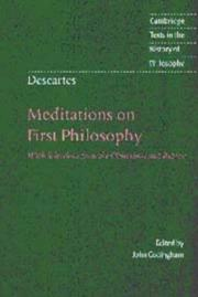 Meditationes de prima philosophia by Ren Descartes