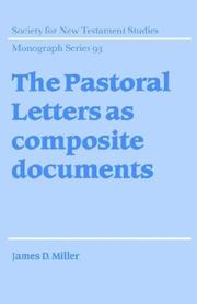 The pastoral letters as composite documents PDF