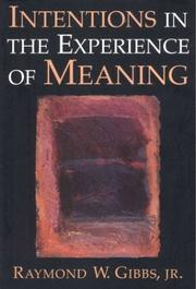 Intentions in the experience of meaning PDF
