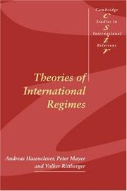 Theories of international regimes PDF