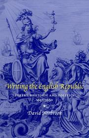 Writing the English Republic by David Norbrook