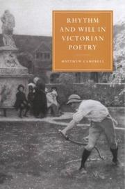 Rhythm and will in Victorian poetry by Matthew Campbell