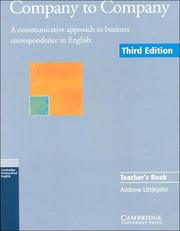 Company to Company Teacher's book PDF