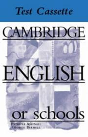 Cambridge English for Schools Tests 4 Audio Cassette (Cambridge English for Schools)