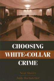 Choosing white-collar crime by Neal Shover