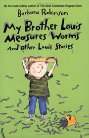 My Brother Louis Measures Worms PDF