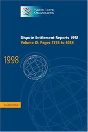 Dispute Settlement Reports 1998 (World Trade Organization Dispute Settlement Reports) PDF