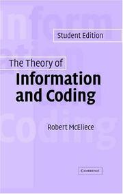 The theory of information and coding PDF