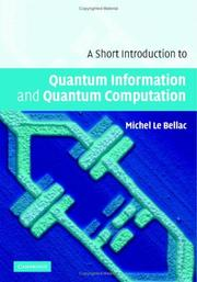 A Short Introduction to Quantum Information and Quantum Computation by Michel Le Bellac
