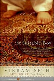 Cover of: A Suitable Boy by Vikram Seth