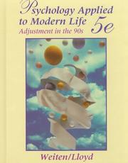 Psychology applied to modern life by Wayne Weiten