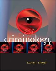 Criminology by Larry J. Siegel