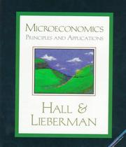 Microeconomics by Robert Ernest Hall