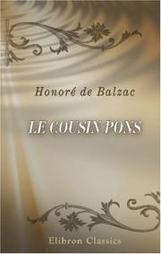 Cover of: Le Cousin Pons by Honoré de Balzac