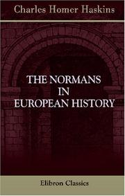 The Normans in European history by Charles Homer Haskins
