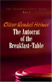 The autocrat of the breakfast-table PDF