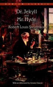 Cover of: Dr. Jekyll and Mr. Hyde | Robert Louis Stevenson