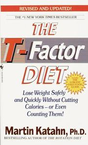 Cover of: The T-factor diet by Martin Katahn