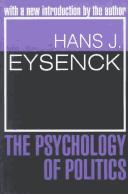 The psychology of politics by Eysenck, H. J.