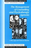 The management of counselling and psychotherapy agencies PDF