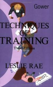 Techniques of training by Leslie Rae