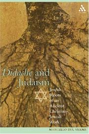 Didache And Judaism by Marcello Del Verme