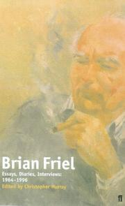 Brian Friel by Brian Friel