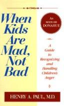 When kids are mad, not bad PDF