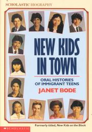 Cover of: New Kids In Town by Janet Bode
